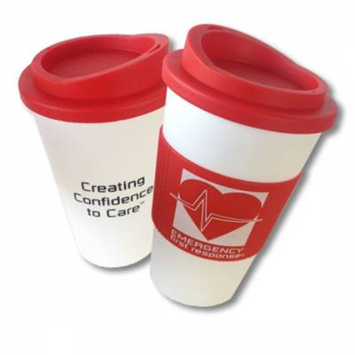 Mug - Emergency First Response , Red/White, Americano