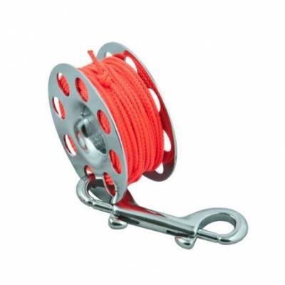 Spool SS 30 m, with SS 100 mm snap -orange